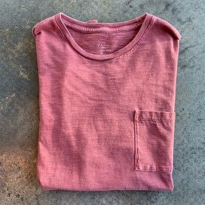 J. Crew dusty red garment-dyed tee
